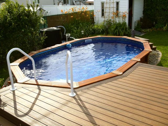 Rectangle Above Ground Pool Decks 52 best above ground pools images on pinterest | backyard ideas