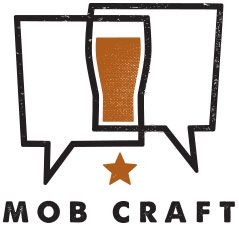 Clever! Intersecting speech bubbles create a pint glass. MobCraftLogo.jpg 239×226 pixels