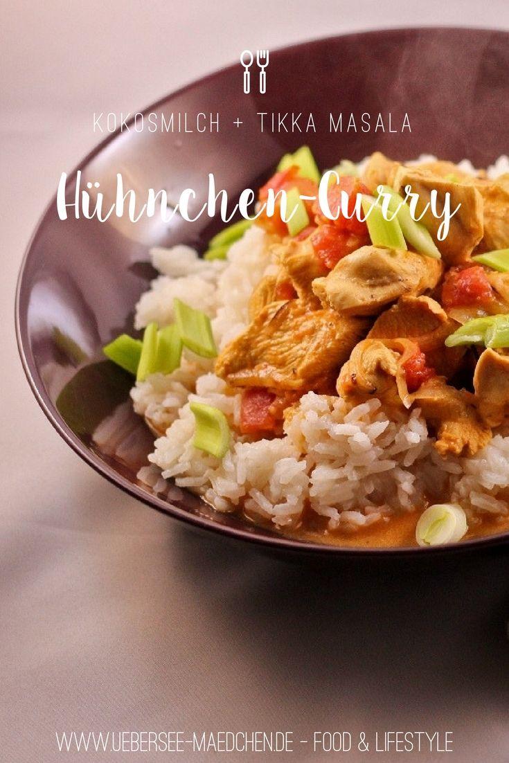 Hühnchen-Curry mit Tikka Masala nach einem Rezept von Jamie Oliver mit Tomaten | Chicken-Curry like Jamie Oliver cooks it with tomatoes and spring onions