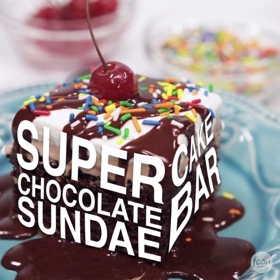 Death by chocolate made easy: We use a boxed cake mix and good-quality, store-bought ice cream as the base for these build-your-own sundaes. The homemade chocolate sauce is super easy to make.