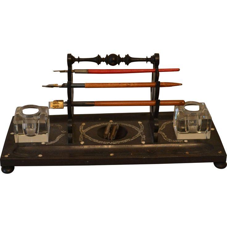 Antique Victorian Desk Dip Pen Stand
