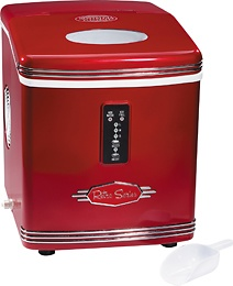... ice makers ice cubes countertops portable nostalgia electric red