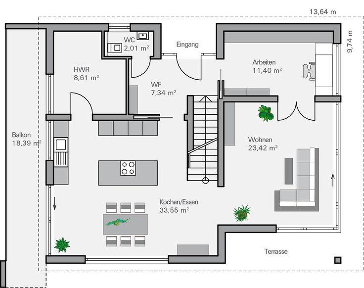 die 25 besten ideen zu hausbau grundriss auf pinterest. Black Bedroom Furniture Sets. Home Design Ideas