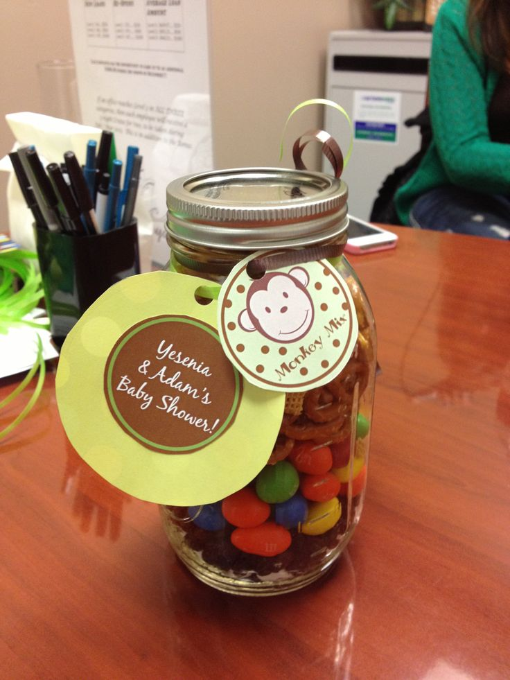 Monkey baby shower favor trail mix my crafts i try pinterest monkey baby shower - Monkey baby shower favors ideas ...