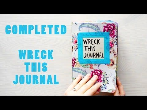 Completed Wreck This Journal - YouTube