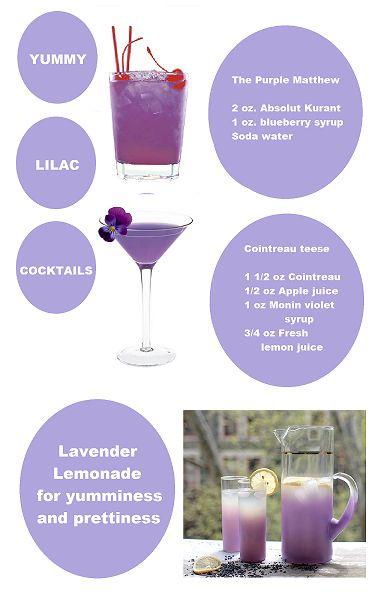 Purple party drinks