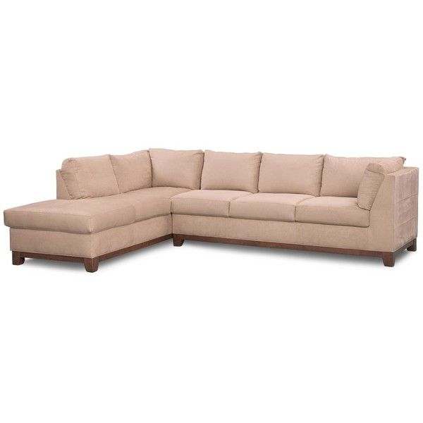 Soho 2-Piece Sectional with Left-Facing Chaise Cobblestone ($720) ❤ liked on Polyvore featuring home, furniture, sofas, cream sofa, cream sectional, off white sofa, ivory sofa and ivory furniture