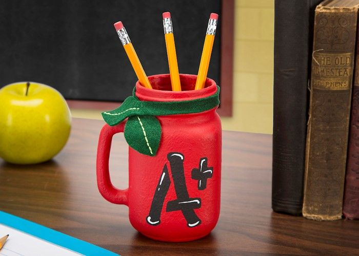 A mason jar pencil holder teachers crafts pinterest for Mason jar holder ideas