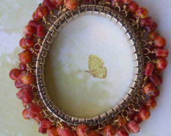 Burnt orange bracelet 0021SB