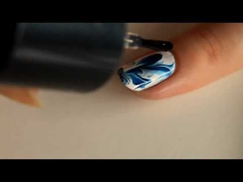 Watercolor Nails with Plastic Bag - Tutorial