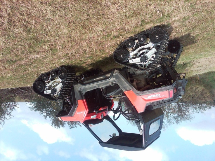 Tricked out Polaris RZR with tracks! Side by Side