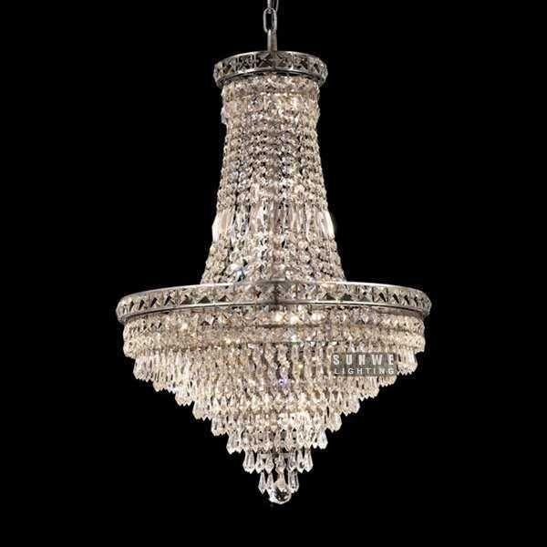 Люстры и подвески висячие хром хрустальная люстра освещение мини спальня хрустальная люстра A9089 55 см х 78 см H