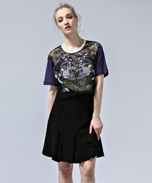 mame(マメ)のMM15SSJS014(Tシャツ/カットソー)|パープル