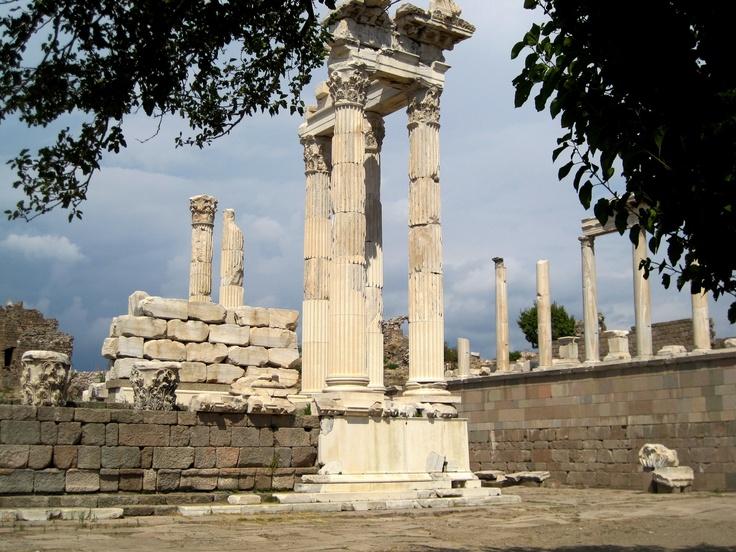Ruins of Temple to Emperor Trajan, Pergamum, Turkey: Romans Architecture, Emperor Trajan