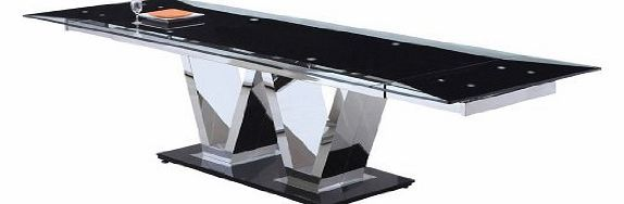Giomani Designs Neo Dining Table - extendable to W 290cm, glass table top - Clear Add a sleek and contemporary look to your dining space with this Extending Dining set featuring tempered Clear glass table top and chrome pillars.<ul><li>Item (Barcode EAN = 5060133707714) http://www.comparestoreprices.co.uk/glass-dining-tables/giomani-designs-neo-dining-table--extendable-to-w-290cm-glass-table-top--clear.asp