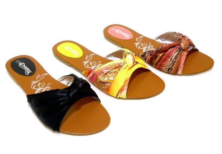 Open Toes Flat Sandals Flip Flops Medium Width Canvas Slides Slip On Womens  #DreamsFootwear #FlipFlopsSlides