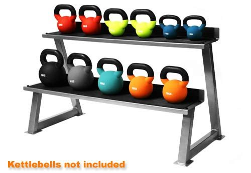 Buy exclusive range of Kettlebell Rack at http://www.worldfitness.com.au/product_info.php?cPath=9_71&products_id=459 that includes below features like: •Comes with a Kit for Easy Installation keep Kettlebells off the floor and out of the way. •Rubber base on trays protect Kettlebells and reduce noise. •Assembly and installation required