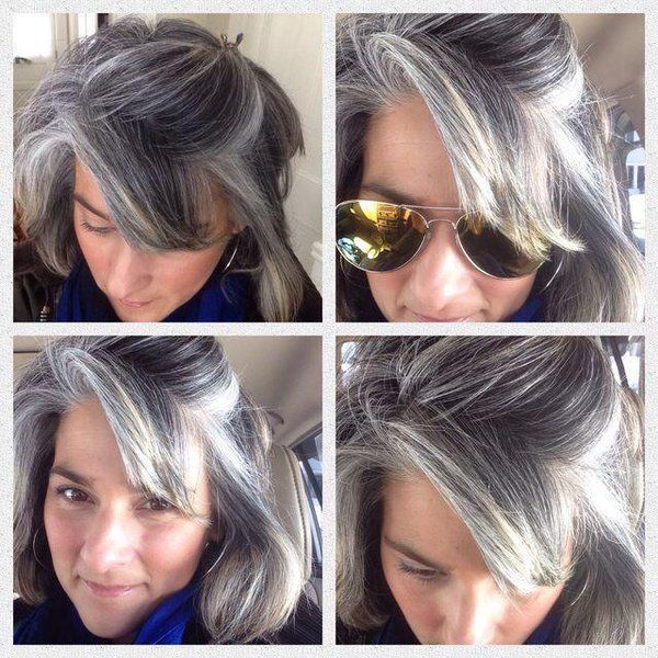 Hairstyles For Transitioning To Gray Hair Food Ideas In