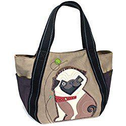 704543c0469 The Flower Tots Gucci Guccioli Pug Oliver Sling Bag. Chala Purse Handbag  Vegan Leather And Canvas Carryall Tote Bag Playful Pug Puppy Dog Chala Purse  ...