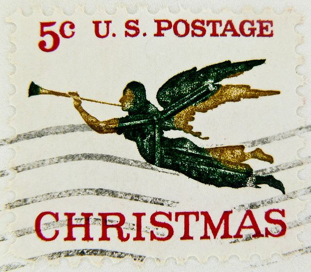Vintage US Postage Stamps Values | xmas stamp angel christmas stamp noel timbre États-Unis u.s. postage ...