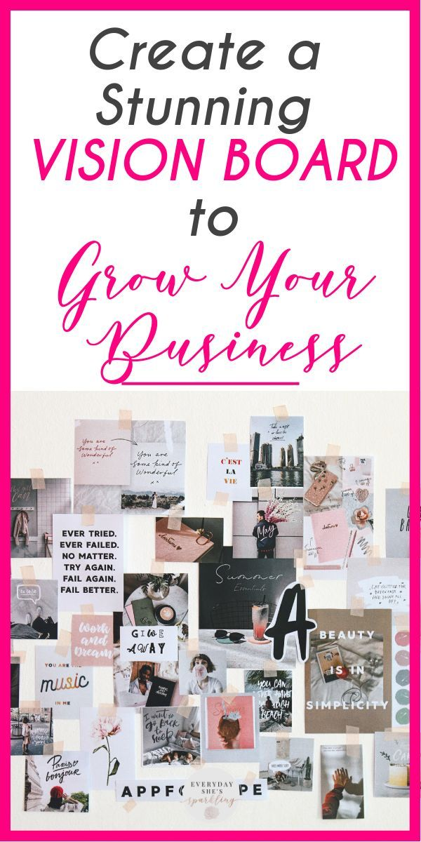 Create A Vision Board To Take Your Business To The Next Level Everyday She S Sparkling Creating A Vision Board Business Vision Board Digital Vision Board