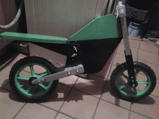 Wooden push bike