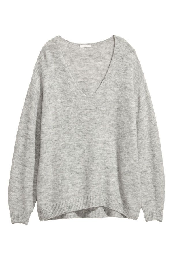 dc4748560fffae Fine-knit jumper | Light grey marl | LADIES | H&M AU | MT STYLE ...