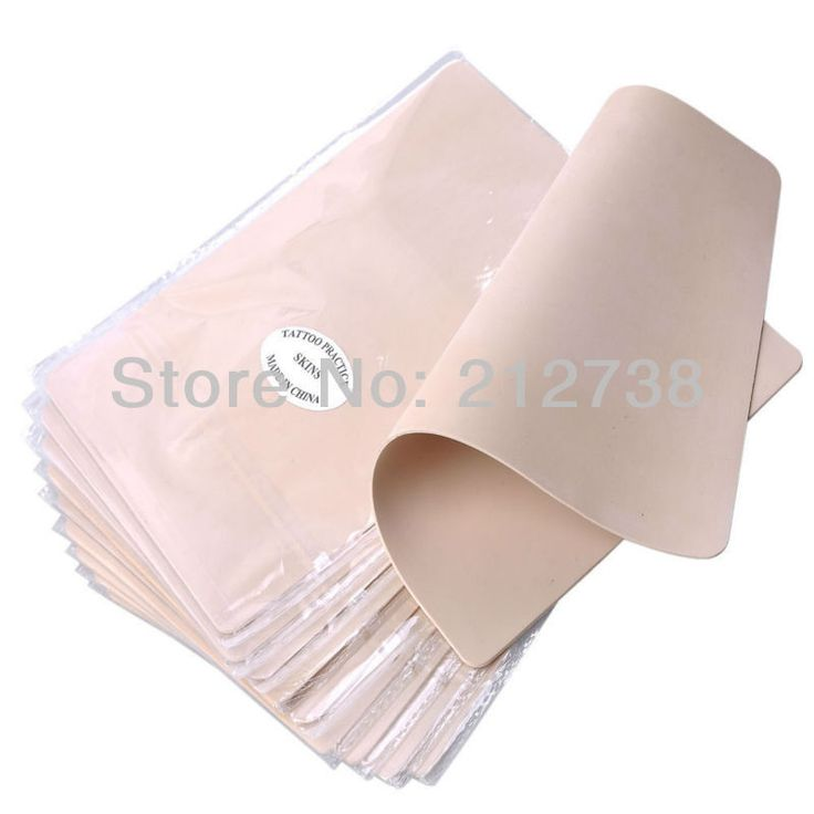 """Pro Lot of 10PCS Blank Tattoo Practice Skin 8""""X6"""" 15X20CM For Needle Machine Ink Free Shipping"""