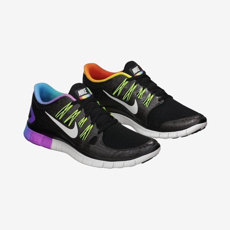 Nike Free 5.0 Black Neon Volt White Purple #Black #Womens #Sneakers · Running  Shoes ...