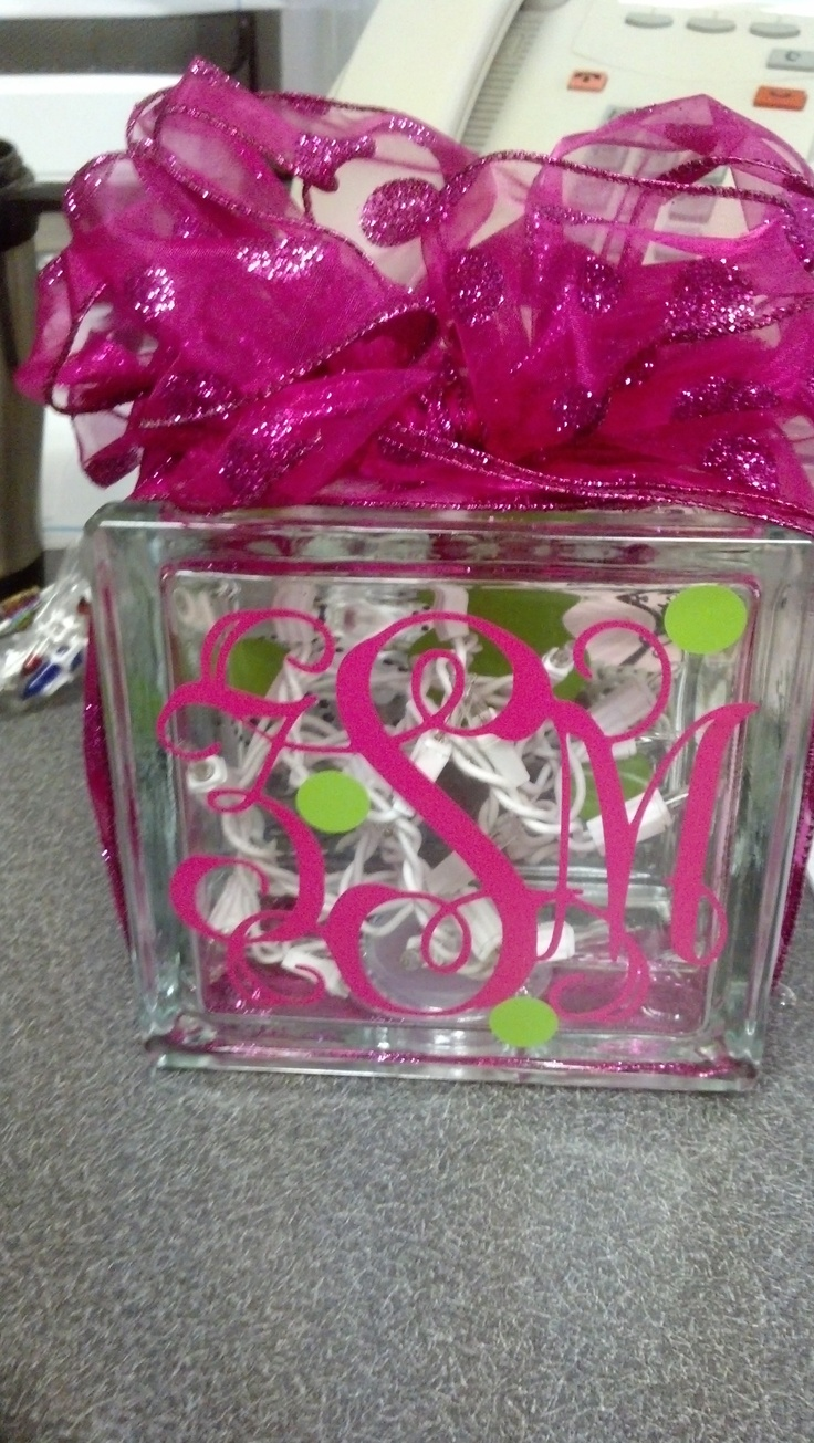 Clear glass blocks for crafts - Glass Block Light