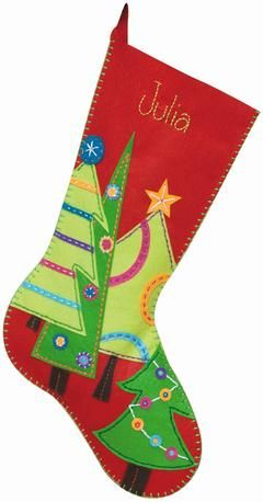 felt christmas stockings martha stewart | Dimensions Festive Tree Felt Applique Stocking Kit