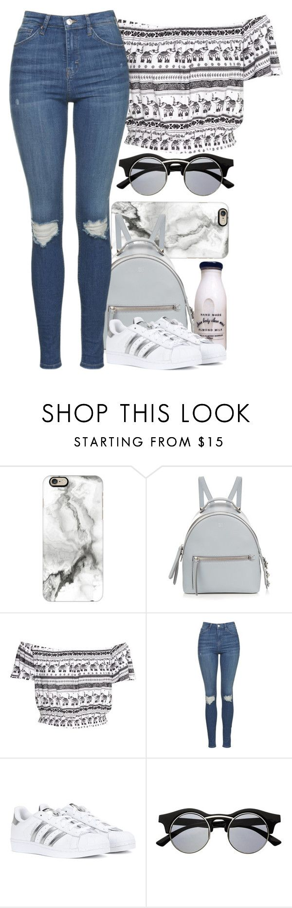 """""""Casual"""" by eduardacardoso1999 ❤ liked on Polyvore featuring Casetify, Fendi, H&M, Topshop, adidas and Retrò"""