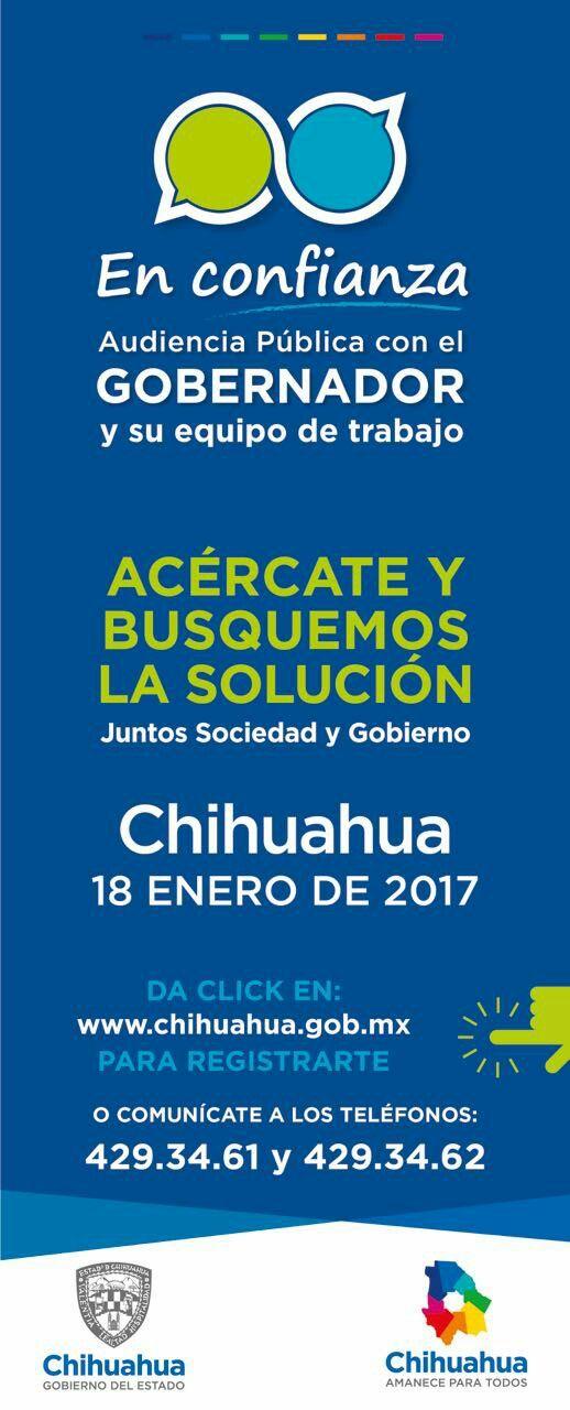 Audiencias públicas este 18 de enero del 2017.  #gobiernotransversal #gobiernodechihuahua #cuu #chihuahuamx