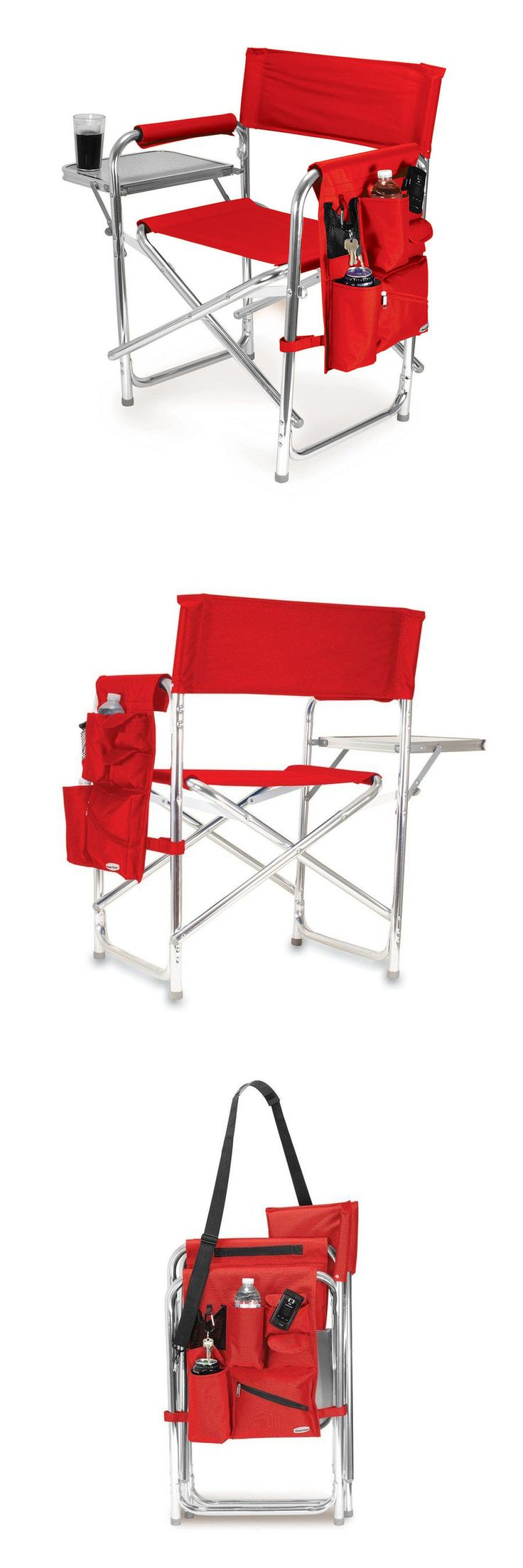 Camping Furniture 16038: Folding Camping Chair Portable Beach Picnic Fishing Hiking Seat Aluminum Red -> BUY IT NOW ONLY: $107.93 on eBay!