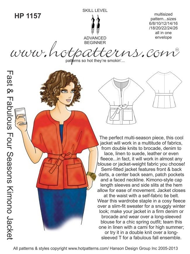 can be made with knits or woven fabrics -- great for fall!
