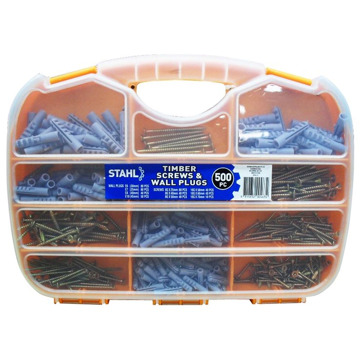 Stahl 500 Piece Wall Plug And Screw Pack