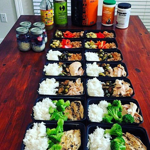 Using items she had in the house @becomingmalakas created this awesome meal prep! She has ground turkey with red bell peppers & roasted gold potatoes roasted chicken with steamed jasmine rice & Brussel sprouts and grilled chicken breast with rice and steamed broccoli! - Learn how to put together tasty healthy meals that create results customized for your body and your goals with @mealplanmagic! - ALL-IN-ONE TOOL & GUIDES - Build Custom Plans & Set Nutrition Goals BMR BMI & Max Rate…