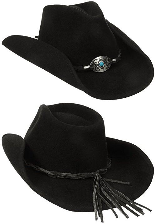 810cc13f14a4ae Scala Women's Wool Felt Pinched Western Hat with Braided Leather Trim,  Black, One Size in 2018 | Cowboy Hats | Pinterest | Hats, Cowboy hats and  Western ...
