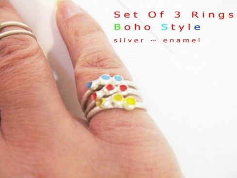 """Dot Collection"" rings by AthenArt! Pick your colours!"