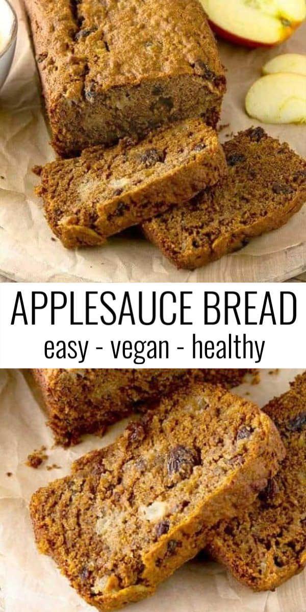 Vegan Applesauce Bread In 2020 Applesauce Bread Best Bread Recipe Easy Cooking Recipes