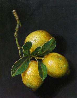 "Saatchi Online Artist Paul Herman; Painting, ""Lemons on slate"" #art"