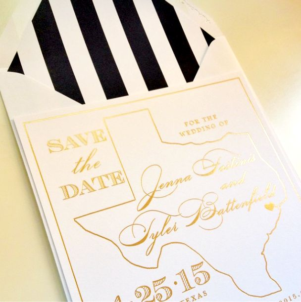 152 best save the dates images on pinterest dates dating and save gold foil save the date for a houston texas wedding we love stopboris Images