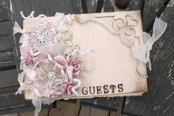 Wooden Shabby Chic Wedding Guest Book / by apromisemadetoday, $89.99