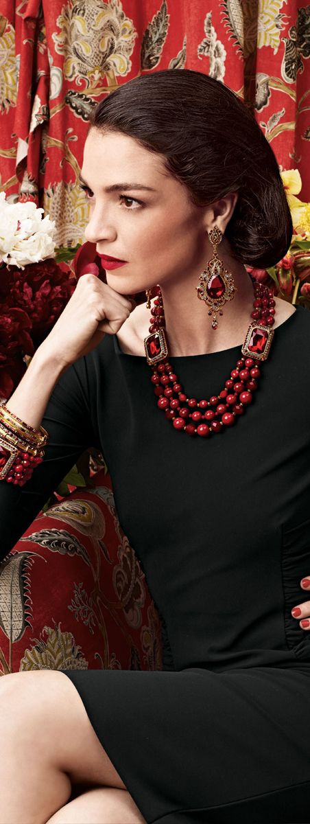 Jose & Maria Barrera Earrings, Necklace, Bangles & Bracelet Bold jewelry calls for a bit of fashion restraint. Keep the focus on your statement pieces by wearing them with an unfussy top or classic L.B.D.