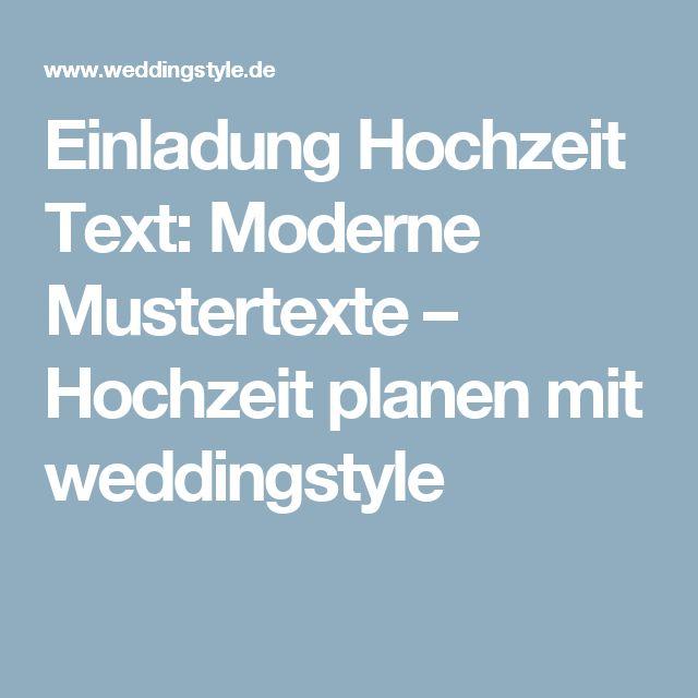die besten 25+ einladung hochzeit text ideen auf pinterest, Einladung