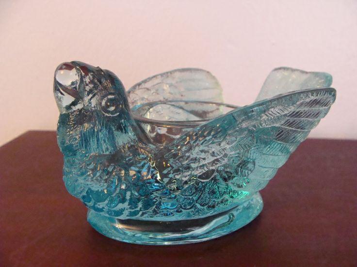 Boyd Blue Glass Bird Open Salt have several colors   Salt ...