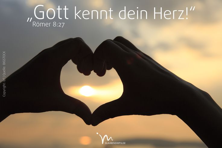 """""""Und #Gott, der unsere #Herzen ganz genau kennt, weiß, was der #Geist für uns #betet. Denn der #Geist vertritt uns im #Gebet, so wie #Gott es für alle #möchte, die zu ihm #gehören."""" #Römer 8:27 #glaubensimpulse"""