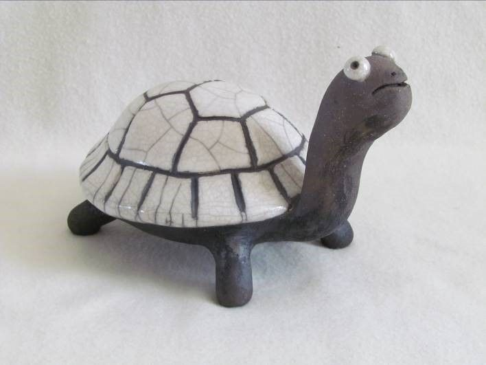 sculpture raku tortue animal original animal céramique grès  artisanal fait main Jean-Pierre Meyer (
