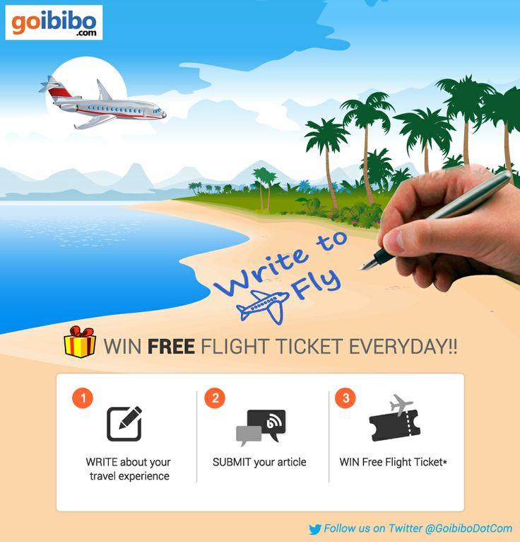 #WriteToFly Contest - Share your travel story & Win Free Flight Ticket everyday!https://www.goibibo.com/write-to-fly/