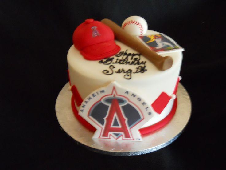 Angels Baseball Team Birthday Cake
